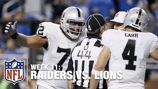 Hold On! Raiders Give Up Safety for Holding in the End Zone! | Raiders vs. Lions | NFL