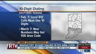 10-digit dialing for 812 area code starts soon