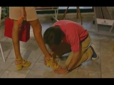 Man begging and kissing a dominant woman's shoes from YouTube · Duration:  2 minutes 21 seconds