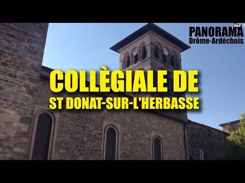 Panorama en Drôme Ardèche - La Collègiale de St Donat sur l'Herbasse
