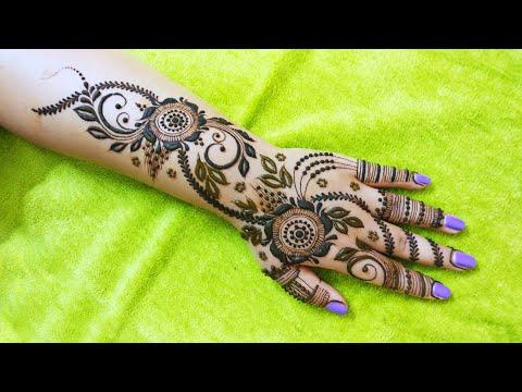 Most Easy Gulf Mehndi Design for Hand    Dubai Heena Design 2018