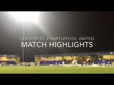 CHESTER FC 1-1 HARTLEPOOL UNITED MATCH HIGHLIGHTS: VANARAMA NATIONAL LEAGUE: 23/01/18