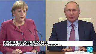 Ultime visite de Merkel à Poutine en pleine crise afghane • FRANCE 24