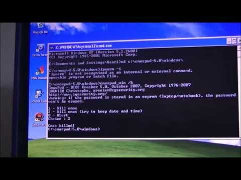 How To Remove BIOS Password Using CMOSPWD