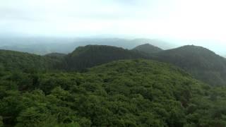 空飛ぶカメラ「折爪岳」オートキャンプ場にて