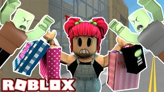 DEATH BY SHOPPING?! ESCAPE THE MALL! | Roblox! | Amy Lee33
