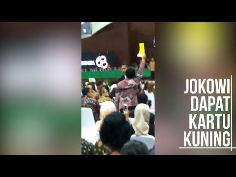 Jokowi Dapat Kartu Kuning di UI