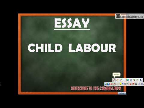 ESSAY on CHILD LABOUR - SSC CGL TIER III