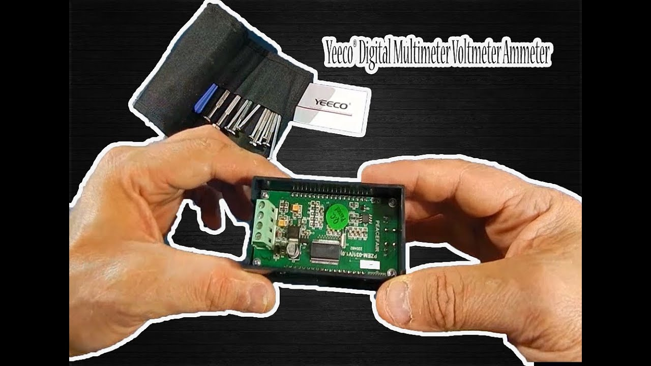 Yeeco Digital Multimeter Voltmeter Ammeter Dc 65 100v 20a Review Electronic Voltmeters Karma Electronics