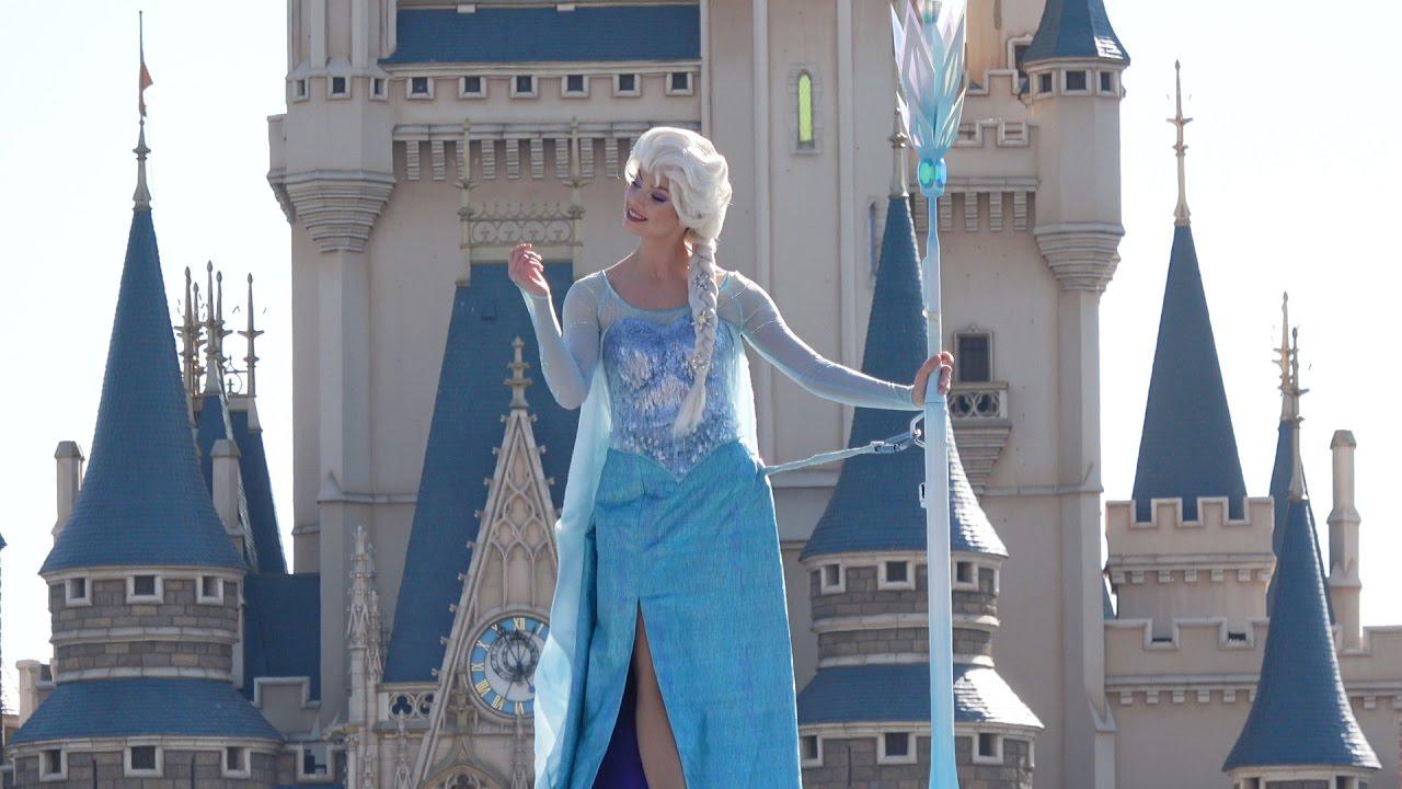 "TDL エルサ綺麗♡「フローズンファンタジーパレード」ディズニーランド Beautiful Elsa! , Anna! ""Frozen fantasy Parade"" Tokyo Disneyland"