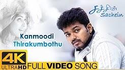 Sachien Tamil Movie Songs   Kanmoodi Thirakumbothu Full Video Song 4K   Vijay   Genelia   DSP
