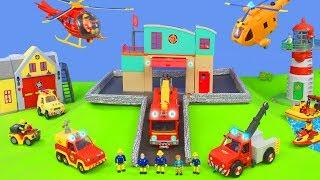 Feuerwehrmann Sam Unboxing: Jupiter Feuerwehrautos, Feuerwehr Rescue Station & Kinder Spielzeugautos