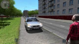 Покупаем машину для таксиста| реальная жизнь в city car driving + играем на руле! Рп задания