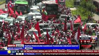 Massa Pendukung Jokowi-Ma'ruf Amin Konvoi dari Sudirman ke GBK