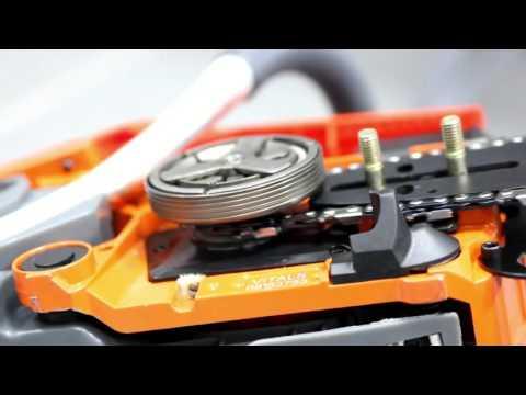 Установка шины и натяжение цепи на бензопилу VITALS BKZ 4517n и BKZ5222n