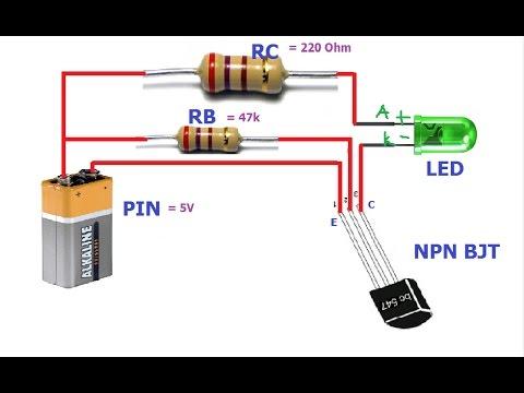 Cách sử dụng Transistor NPN và Transistor PNP để tắt mở LED   Lý thuyết và Mô phỏng