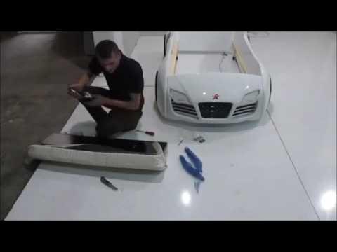 Kinderbett auto bmw  Kinder Autobett Turbo V8 Montagevideo Kinderbett Jungs LED - YouTube