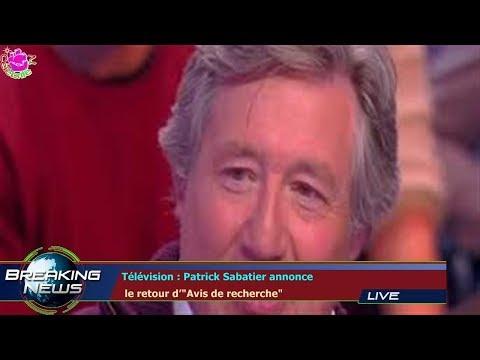 Télévision : Patrick Sabatier annonce  le retour d'