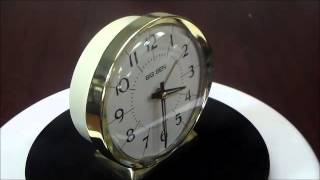 Westclox Big Ben Classic 1964 Reproduction Loud Bell Quartz Alarm Clock  Gold Tone  Almond