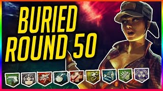 """BURIED & DIE RISE"" ROUND 50 CHALLENGE ~ (Black Ops 2 Zombies Gameplay)"