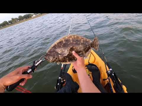Fishing For Flounders At Kemah Bay