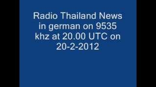 Radio Thailand News in german on 9535 khz at 20.00 UTC on 20-2-2012