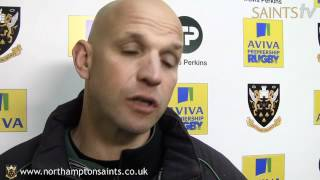Saints v Worcester: Jim Mallinder reaction