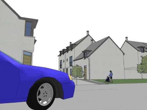 Old Mart development in Aboyne, Scotland