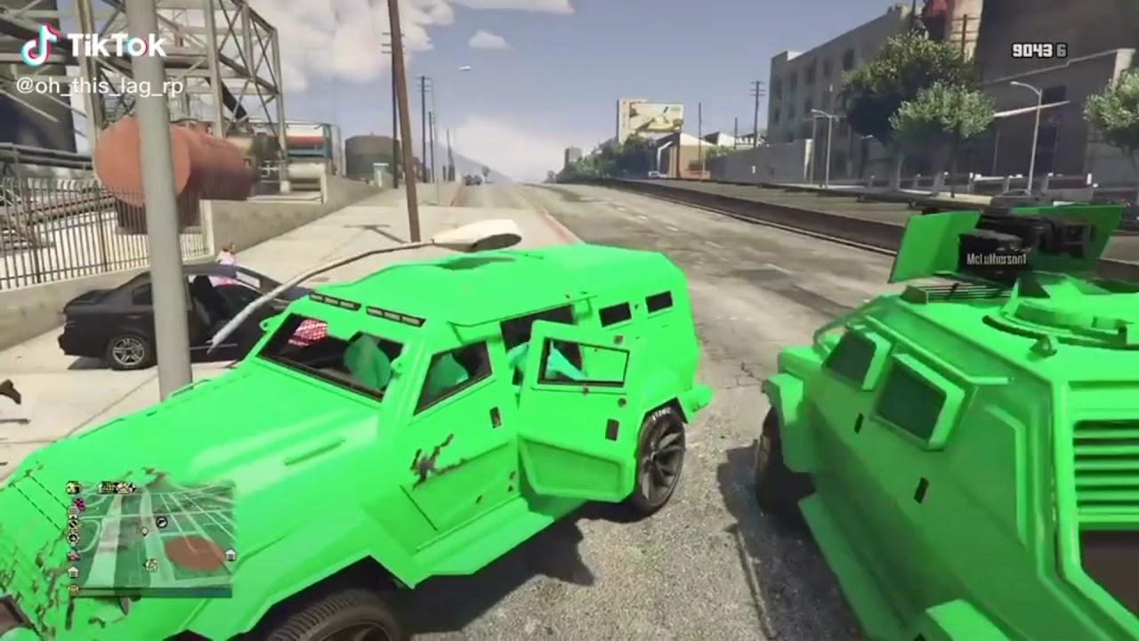 GREEN VS PURPLE AILEN GTA 5 GANG WAR - BEST MOMENTS - TIKTOK EDITION