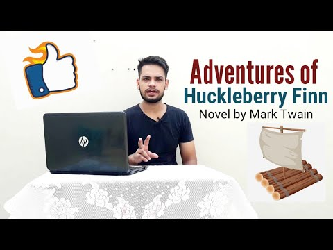 Adventures of Huckleberry Finn : Novel by Mark Twain in Hindi summary Explanation and full analysis