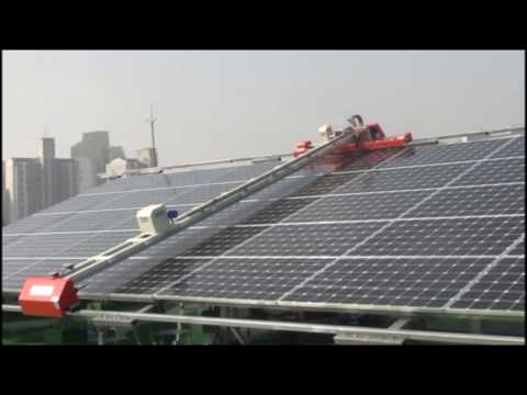 Solar Panel Cleaning Machine and System