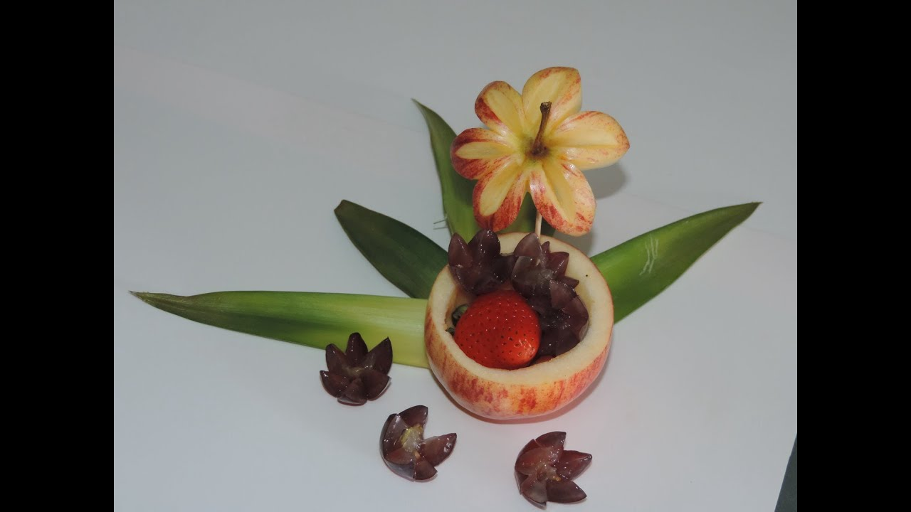 How to make a delicious dessert with fruit arte com for Apples decoration