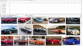 Наполнение таблиц CSV с товарами картинками из Google