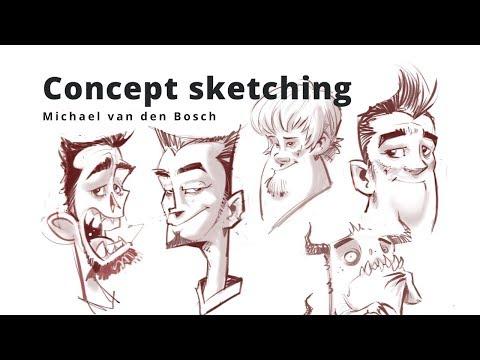 Concept sketching - Michael van den Bosch