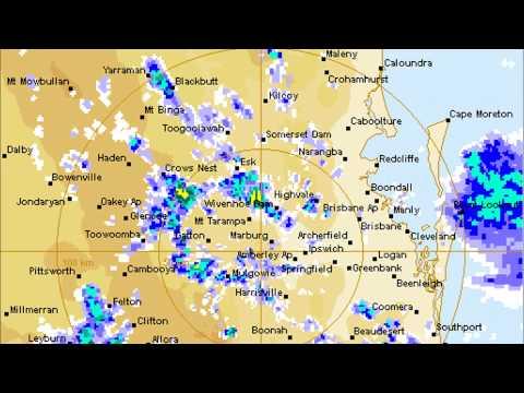 Toowoomba RADAR of deluge that caused severe flash flood January 2011