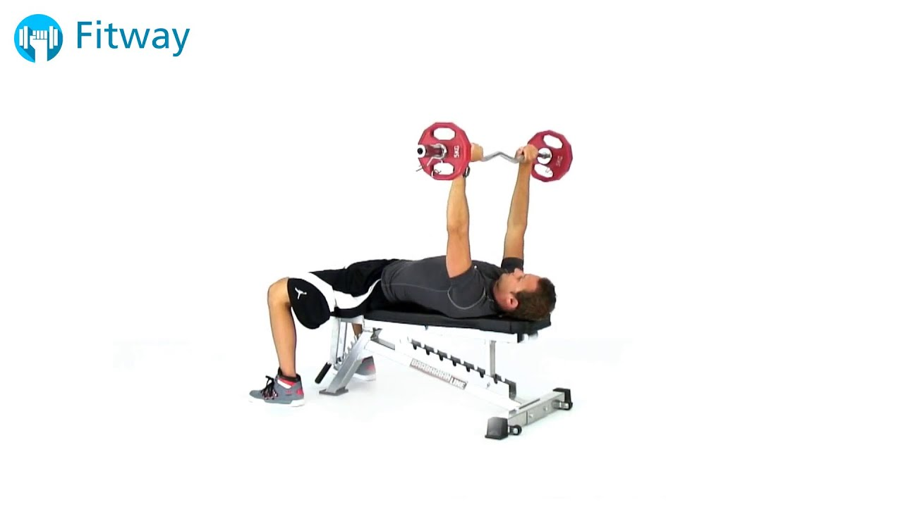 Guillotine Bench Press Part - 24: How To Do: EZ Curl Bar Bench Press - Flat Overhand Grip Guillotine | Chest  Workout Exercise