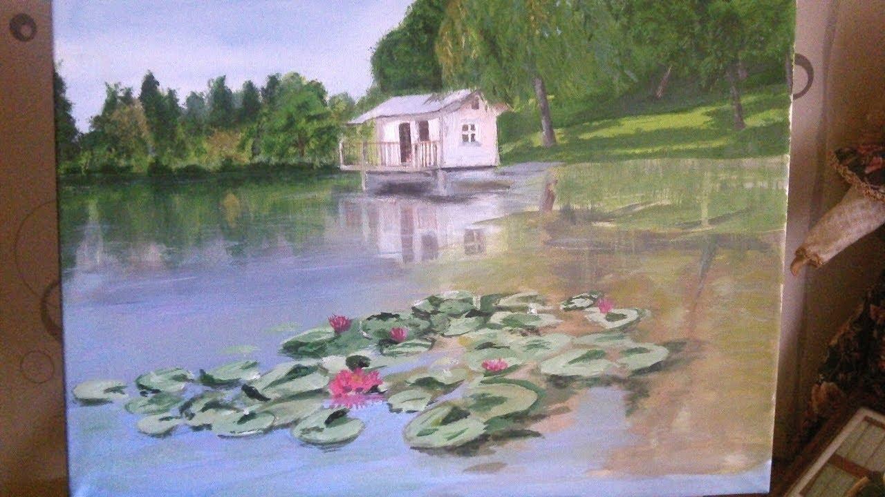 Peinture Acrylique Paysage Peindre Un étang