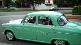 Driving our 1957 Austin Cambrian 4 Door Sedan in Santa Monica, California.MP4