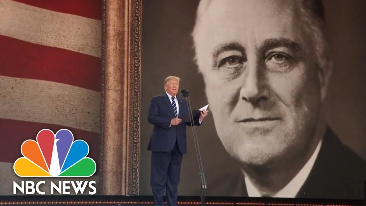 Donald Trump Recites Franklin D. Roosevelt's D-Day Prayer To Mark 75th Anniversary | NBC News