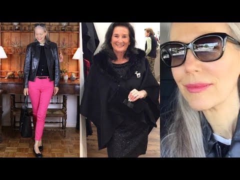 Vlog/Over 50: Black Leather Jacket, Pink Jeans;  Winterwear Trunk Show Peek / Classic Fashion