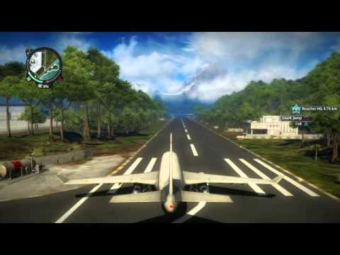 Just Cause 2 Awesome plane crashes