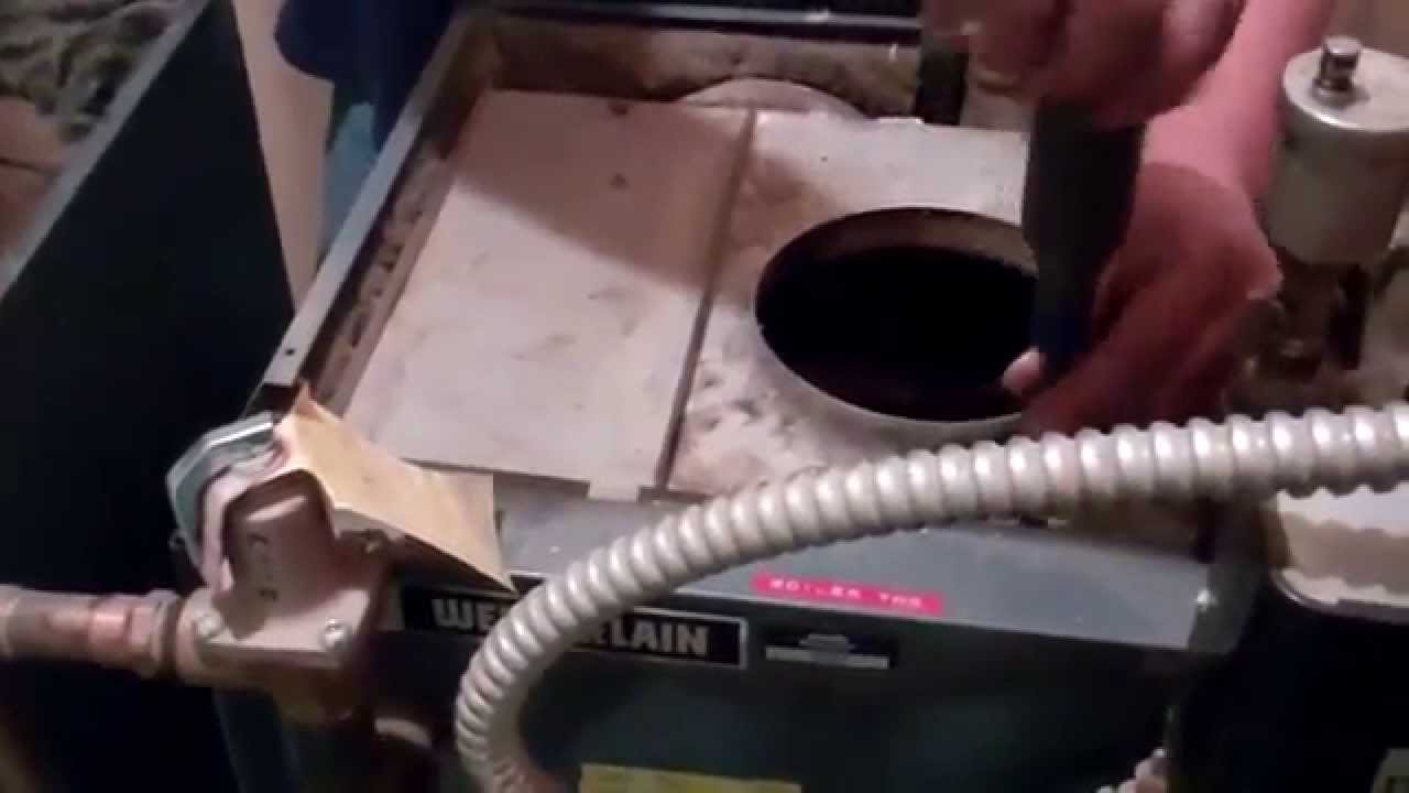 How To Clean The Flueways Of A Weil Mclain Oil Fired Cast Iron Boiler