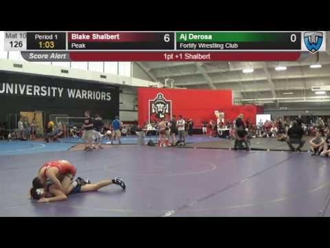 2347 Junior Men 126 Blake Shalbert Peak vs Aj Derosa Fortify Wrestling Club 4139349104