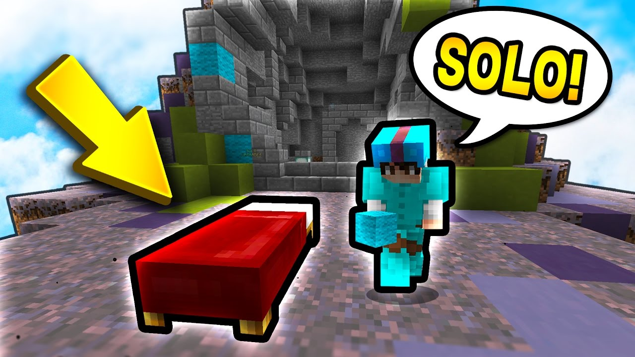 My First Solo Bed Wars Game Minecraft Bed Wars Youtube