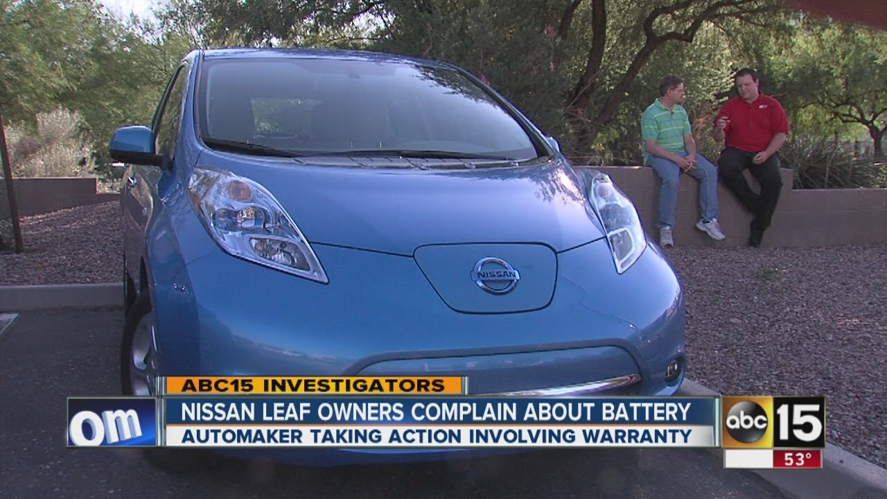 nissan leaf owner complain about battery problems youtube. Black Bedroom Furniture Sets. Home Design Ideas