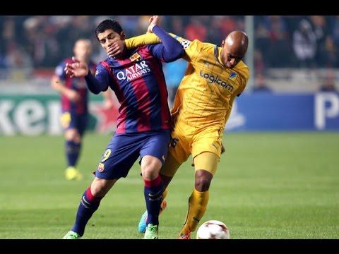 Primer Gol De Luis Suarez En El Barcelona