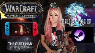 Gaming News:  FF14 APP MICROTRANSACTIONS! STEAM.TV vs Twitch! DIABLO 3 for SWITCH! WOW NEW FOX RACE!