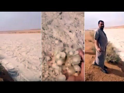 Extraño fenómeno natural en el desierto de Arabia Saudita (Rio de arena)