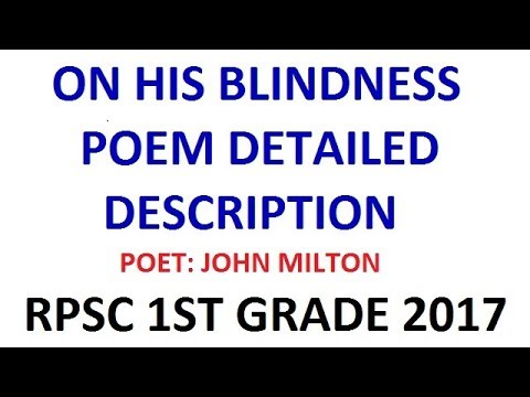 on his blindness poem