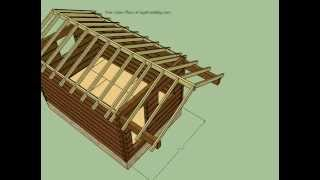 12x18 Log Cabin Plans - Sketchup Model